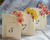 Mixed Orchid  Table Number Tents - for Events, Weddings, Parties, Showers, Graduations.