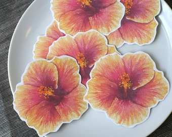 Hibiscus Flower Prints - Decorations for weddings and events. Place cards, wishing tree, guest book
