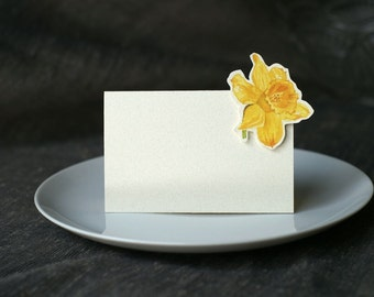 Daffodil Flower - Place Card - Gift Card - Table Number Card - Menu Card -weddings events