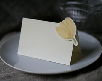 Ivory Tulip - Place Card - Gift Card - Table Number Card - Menu Card -weddings events