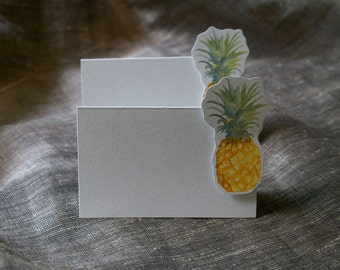 Pineapple Place Card - Pineapple wedding - Pineapple event decoration - pineapple paper goods