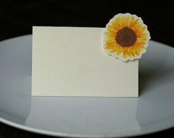 Sunflower  Small Tent - Place Card - Escort Card - Gift Card  - Menu card weddings events