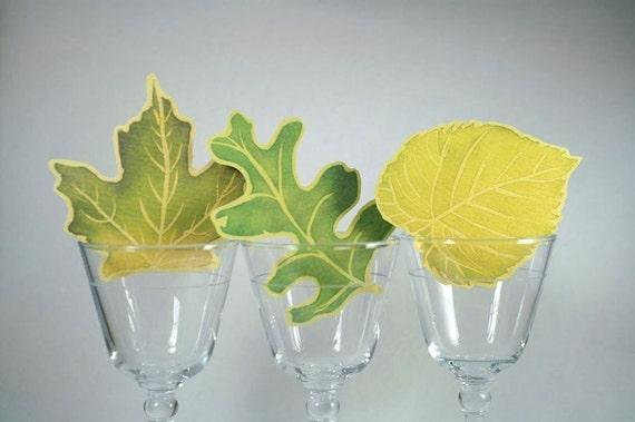 Multiple Leaves - Hand cut prints of original watercolor leaves