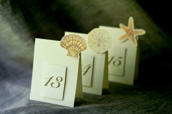 Table Numbers - Shells - Weddings- Events -  Paties - Holidays - Celebrations - Seating