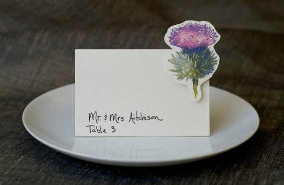 Thistle - Wedding Place Card - Gift Card - Table Number Card - Menu Card -weddings events