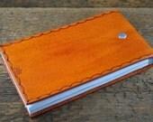 Desert Tan Leather Notepad