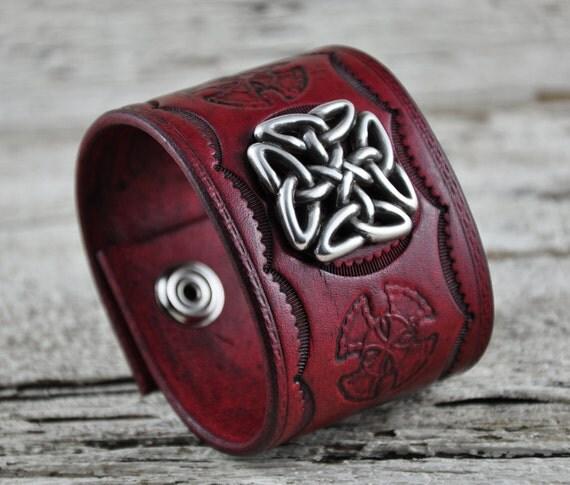 Celtic Legacy Leather Cuff