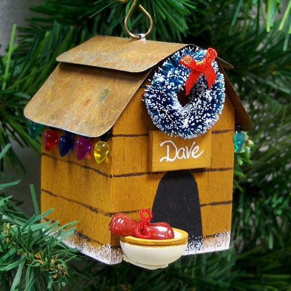Personalized Dog Christmas Ornament Dog House