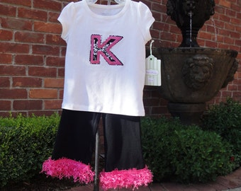 Little Diva Initial Outfit by Cheryl's Bowtique / SALE - Last One!  pagaent, dance, solo, personalized, monogram, initial