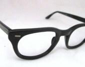 Buddy Holly Vintage Glasses Frames Geek Hipster Black Horn Rim USS