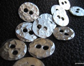 Thorsson Hand Hammered 1/2 inch Fine Silver Buttons   PRICED EACH BUTTON
