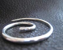 Small Spiral Lightweight Shawl Pin Shawl Screw in Fine Silver