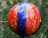 Garden Globe - Red and Blue