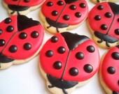 Custom Listing for Vfarris827- Ladybug Cookies, Ladybug Favors, Ladybug Decorated Cookies