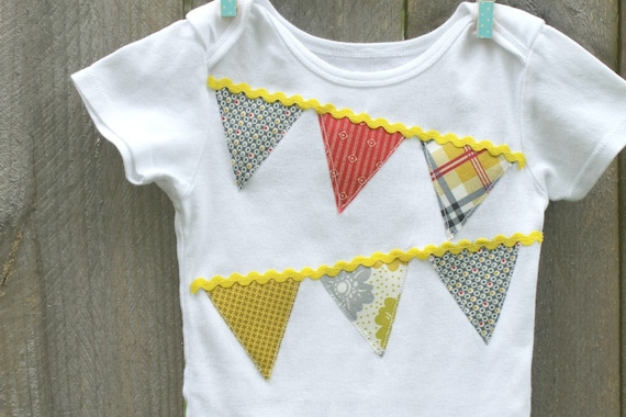 Flag Embellished Onesie, SALE Retro Flags on Whte Body Suit,  Unisex, Ready to Ship, Boutique, 24 Months, Babygrows