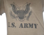 Vintage Brown Army TShirt