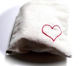 Reusable Sandwich Bag with an Embroidered Heart Set of 3