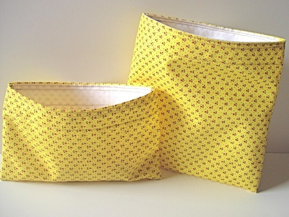 Set of 2 Reusable Sunny Sandwich and Snack Bag