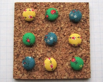 9 Fabric Covered Thumbtacks