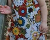Larrge flower pattern cap sleeve dress