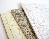 Map Notebooks Set of 3 in Green Tones