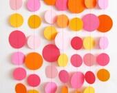 Pink and Orange Paper Garland