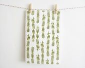 Patterned Notebook with Ferns - MintAfternoon