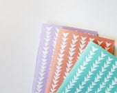 Patterned Notebooks in Triangles - Set of 3