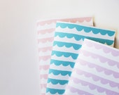 Patterned Notebooks in Scallops - Set of 3