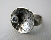 Ring, Sterling Silver Moon and Stars, made to order