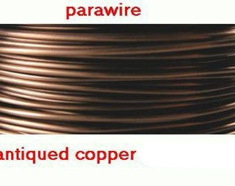 18 Gauge 50' (16yards) ANTIQUE COPPER Non Tarnish Permanently Colored Enameled craft Wire 1mm round lead free