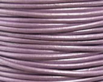 2m 5m 10m ( 6.5 / 16 feet ) 1.5mm LAVENDER CHANDNI Leather Cord  Premium Quality Round soft USA lead free