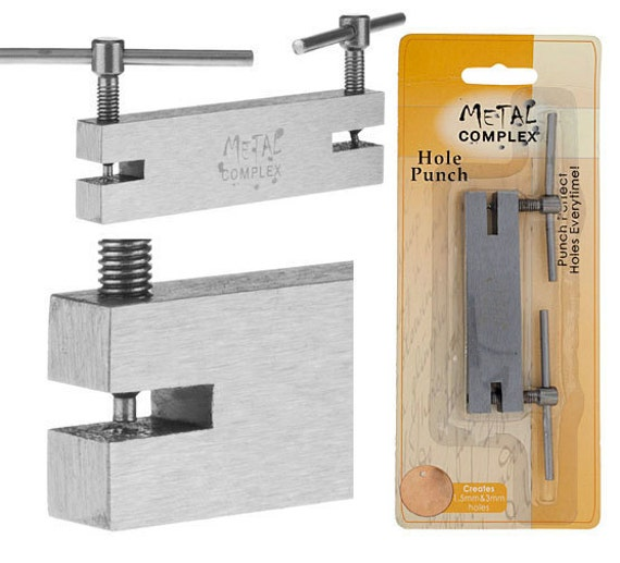 1.5mm 2mm Screw Double Hole steel Puncher METAL COMPLEX