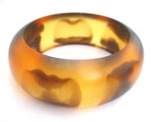 Brown resin bangle bracelet jewelry  handmade resin jewellery , designer jewelry, artisan jewelry , animal print tribal jewelry , big bangle