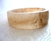 Champagne Handmade Resin Bangle Bracelet Jewelry , Tan Walnut Brown Broad Bracelet Bangle Camel Bubble Wood Stain Modern Resin Fashion