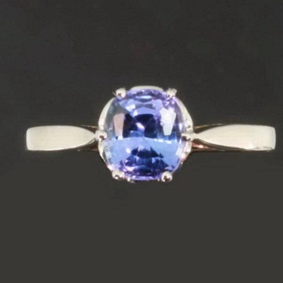 RESERVED Vintage Lavender Blue Sapphire Engagement Ring White Gold - Adin Jewelry 10145-4297