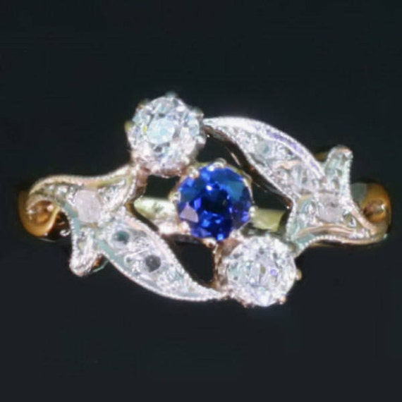 Reserved Antique Sapphire & Diamond Ring c.1890