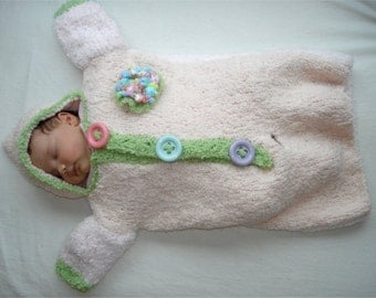 Knitting PATTERN - Cozy Baby Bunting pdf knitting pattern