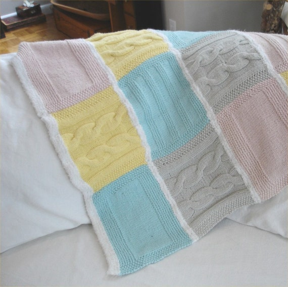Knitting PATTERN- Cozy Baby Blanket PDF