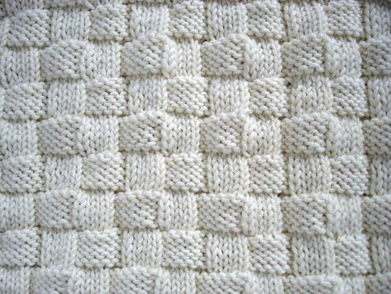 Baby Blanket PATTERN- Initial Baby Blanket Knitting pattern from theknittingn...