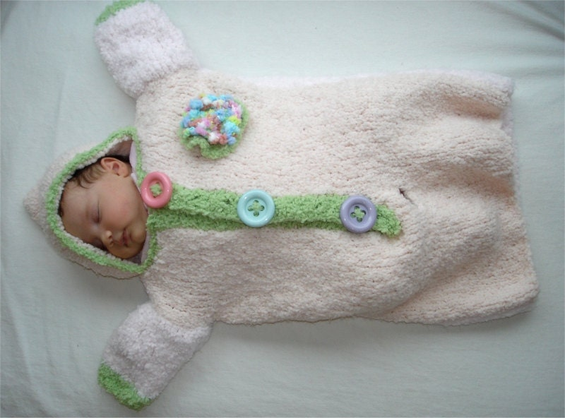 Knitting PATTERN Cozy Baby Bunting pdf knitting pattern