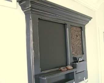 Mikes Antiqued Black Message Center, Bulletin Board, perfect for a house warming or wedding gift.