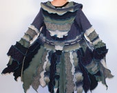 Winter Sky -- M/L -- Ready to Ship -- Flutterby Pixie Recycled Sweater Coat