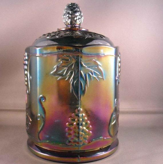 Vintage Carnival Glass Canister