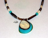 Tagua Nut Necklace, Natural, Eco Friendly, Handmade Necklace, Fair Trade