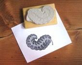 Exotic Feather Hand Carved Stamp