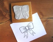 Bow - Hand Carved Stamp