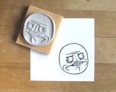 Me Gusta Rage Face Hand Carved Stamp