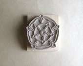 English Rose - Hand-Carved Rubber Stamp