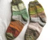 Nature Girl - Hand Knit Socks Women's Size 8 - 8.5